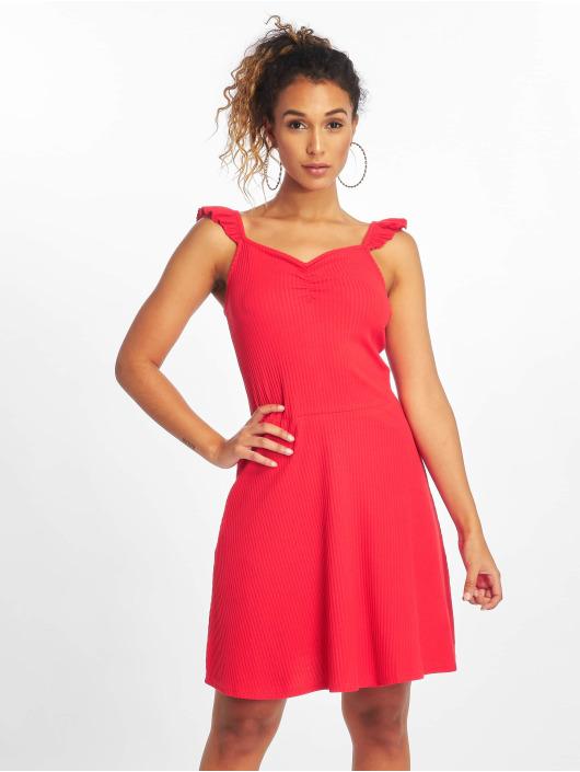 Only jurk onlTine Rib rood