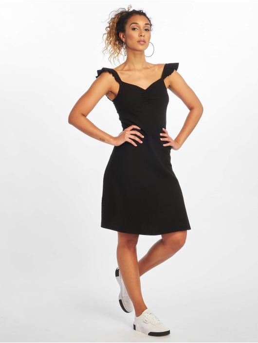 Only jurk onlTine Rib zwart