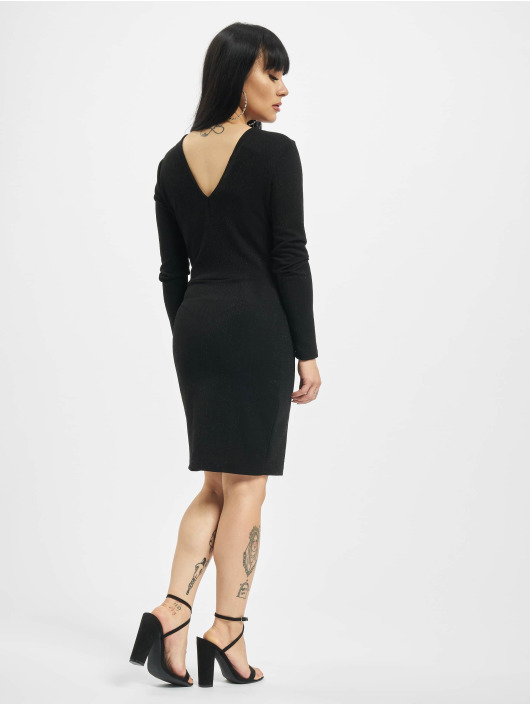 Only jurk onlNew Queen Glitter Twist zwart