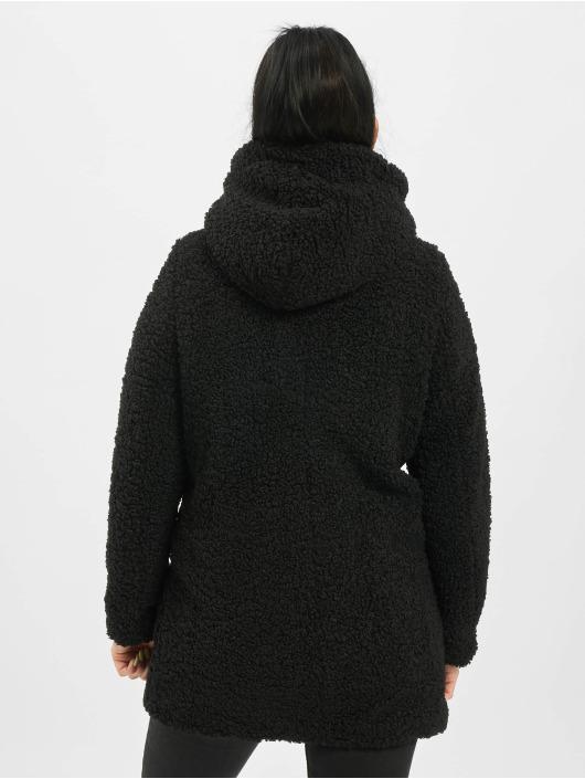 Only Kåper onlTerry Curly Fur Hood svart