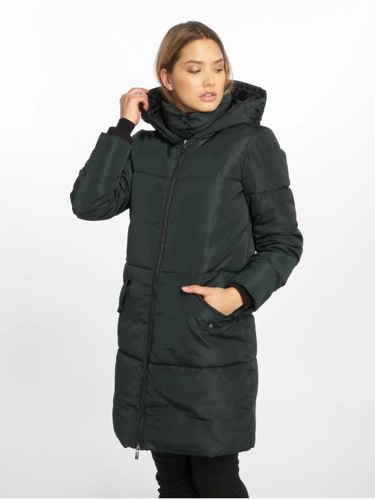 Only Kabáty onlElin Long Nylon zelená