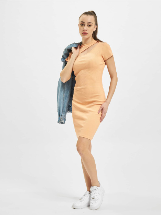 Only Kleid onlNessa Life Cut-Out Box orange