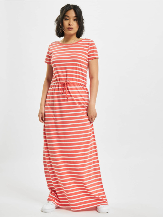 Only Kleid onlMay Life Shortsleeve String rot