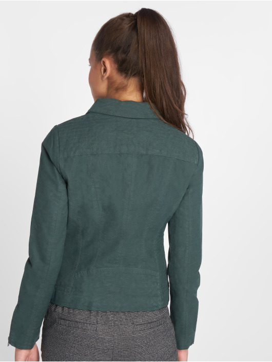Only Kurtki skórzane onlSaga Faux Leather zielony