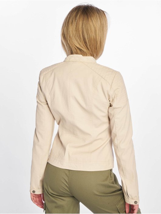 Only Leather Jacket onlSteady beige