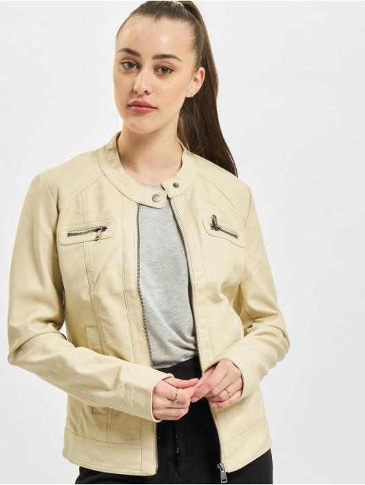 Only Leather Jacket onlBandit Faux Noos Leather Biker beige