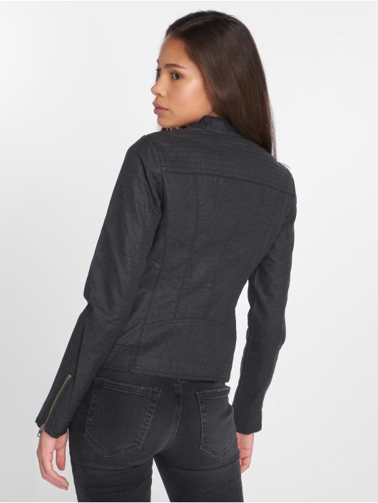 Only Leather Jacket onlSaga black