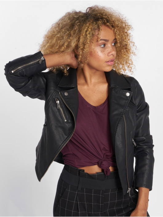 Only Leather Jacket onlVigga black