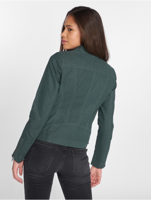 Only Leather Jacket onlSaga green