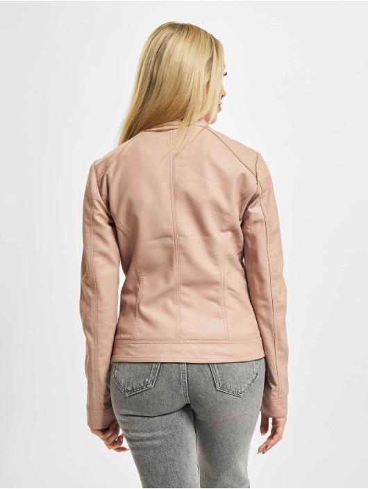 Only Leather Jacket onlBandit Faux Noos Leather Biker rose