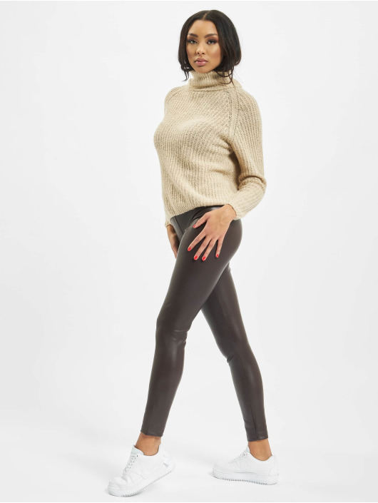 Only Legging/Tregging onlSuper-Star PU marrón