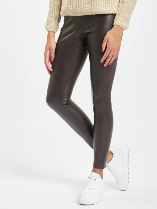 Only Leggings/Treggings onlSuper-Star PU brazowy