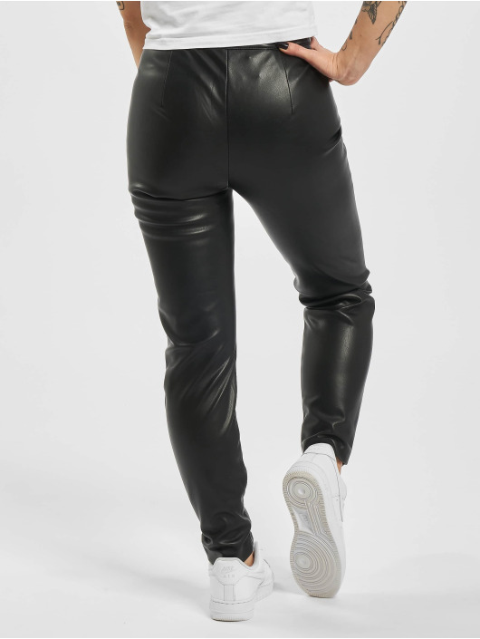 Only Leggings/Treggings onlTea-Miri Mw Faux Leather czarny