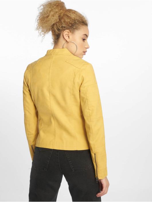 Only leren jas onlAva Faux geel