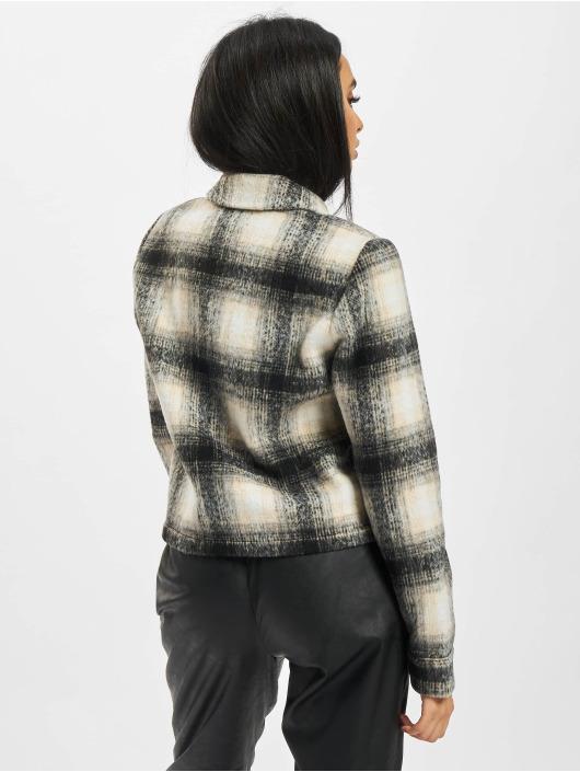 Only Lightweight Jacket Onllou Short Check beige