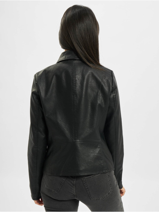 Only Lightweight Jacket onlMelisa Faux Leather black