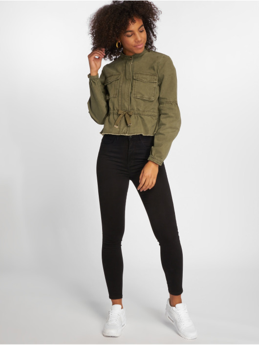 Only Lightweight Jacket onlArianna Short Utility khaki