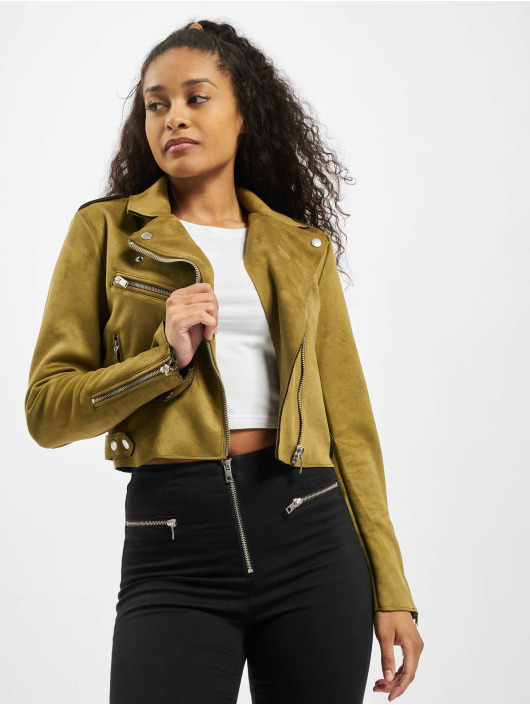 Only Lightweight Jacket onlSherry Crop olive