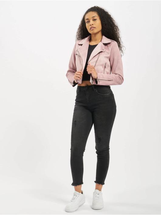 Only Lightweight Jacket onlSherry Crop purple