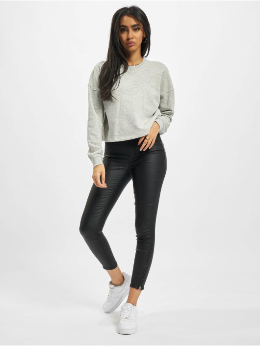 Only Maglia Onlbless Cropped grigio
