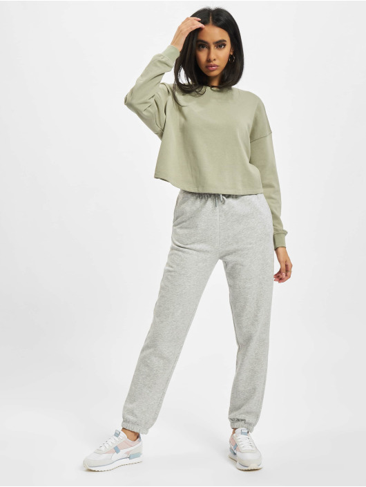 Only Maglia Onlbless Cropped verde