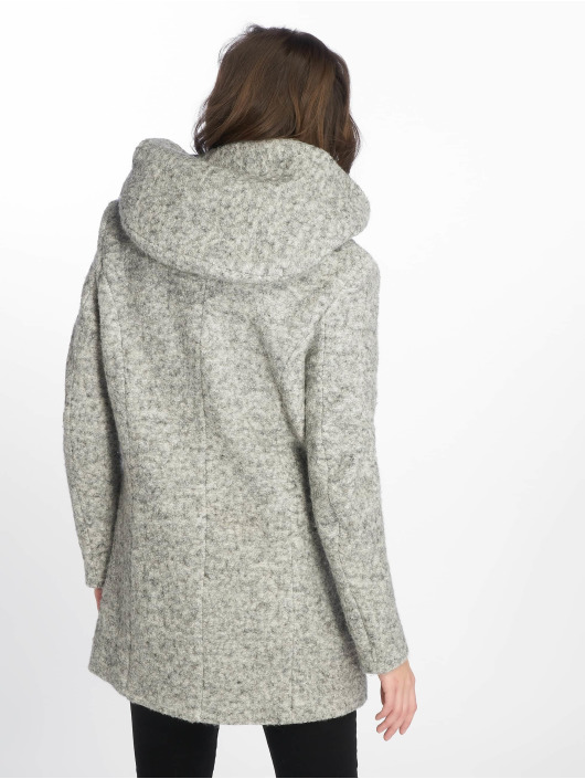new styles pick up first look Only onlSedona Boulce Wool Coat Light Grey Melange