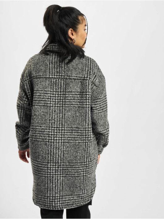 Only Manteau Onlstormy Long Shacket gris