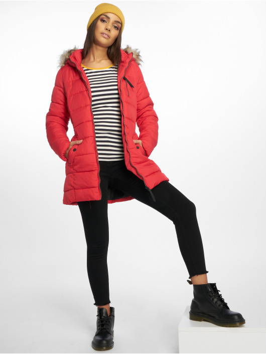 Only Manteau hiver onlNorth rouge