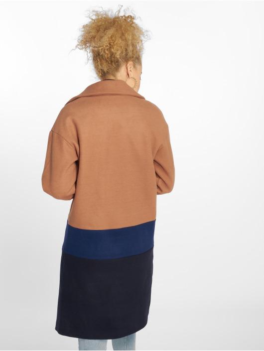 Only Mantel Long Blocked Wool braun