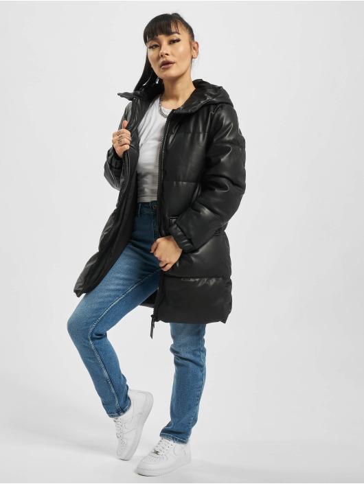 Only Mantel onlBrooke Faux Leather schwarz