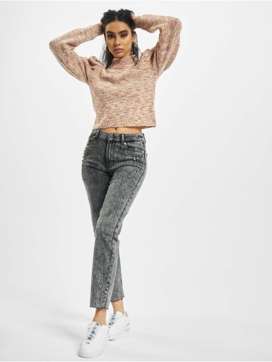 Only Mom Jeans onlWild Emily High Waist Acid Ankle gray