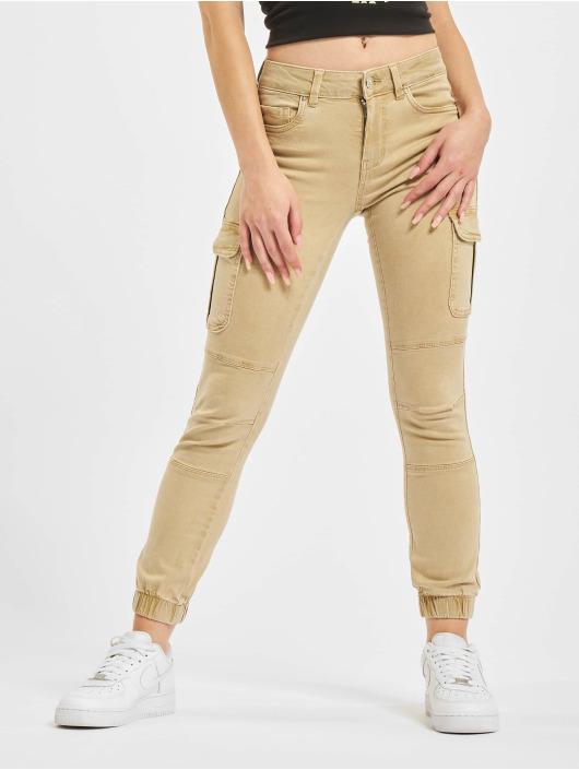 Only Pantalon cargo Onlmissouri REG ANK Life Noos beige