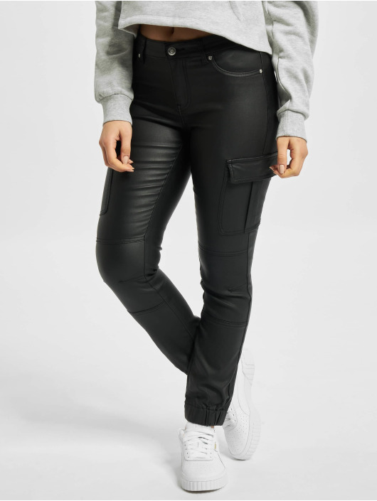Only Pantalon cargo onlMissouri Reg Ank Coated noir