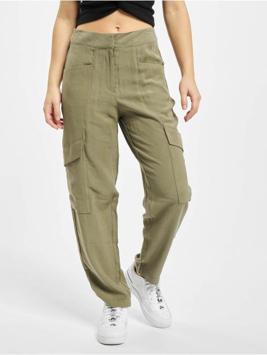 Only Pantalon cargo onlEberta-Aina High Waist Uility olive