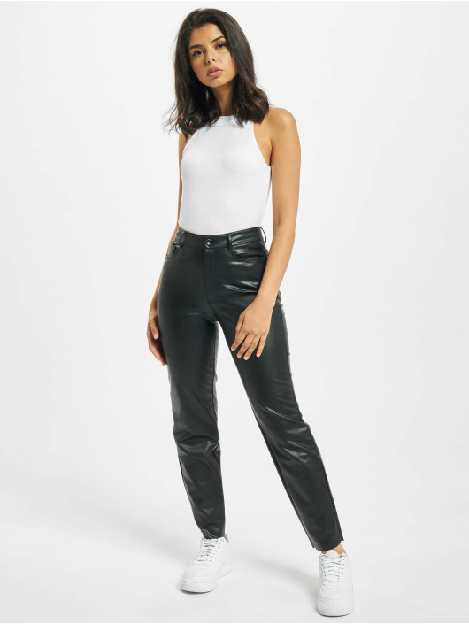 Only Pantalon chino onlEmily High Waist St Ank Faux Noos noir