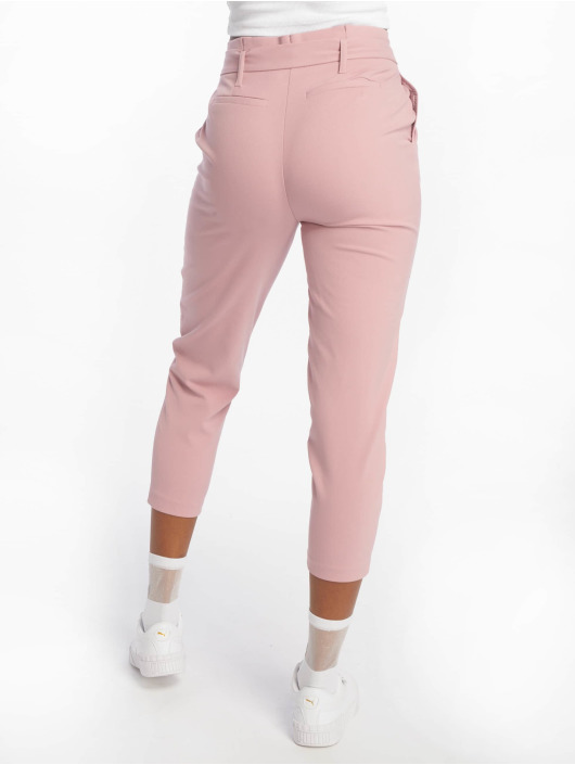 Only Pantalone chino onlNicole Paperbag rosa chiaro