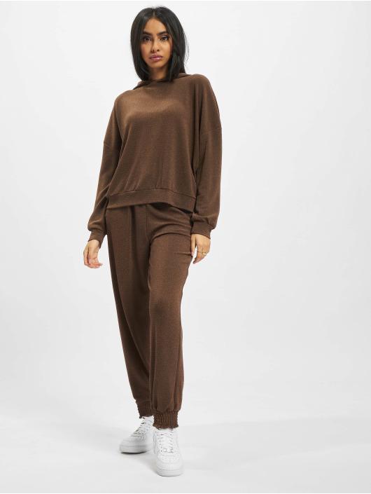 Only Pantalone ginnico Glitter marrone