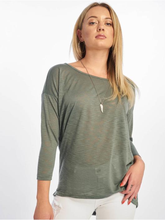 Only Pitkähihaiset paidat onlCasa Solid Slub 4/5 vihreä
