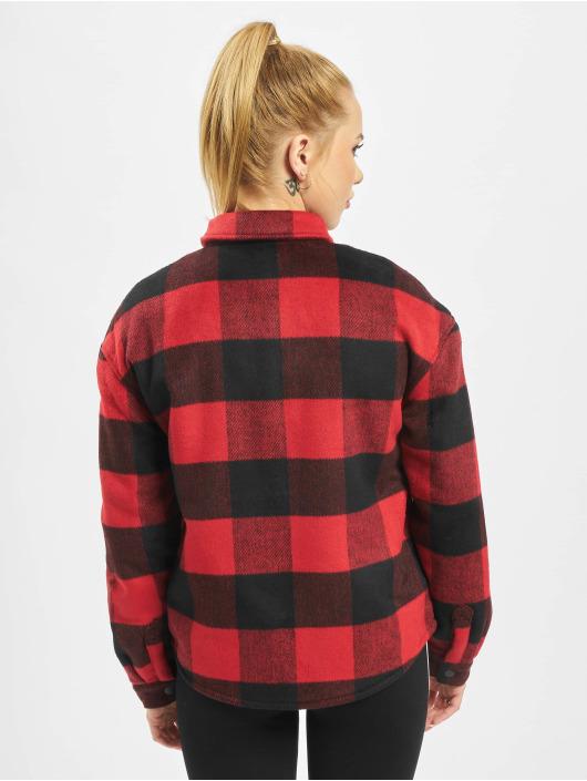 Only Prechodné vetrovky onlBret Checked Shirt èervená