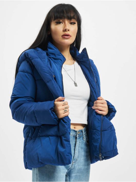 Only Puffer Jacket onlSara Short blau