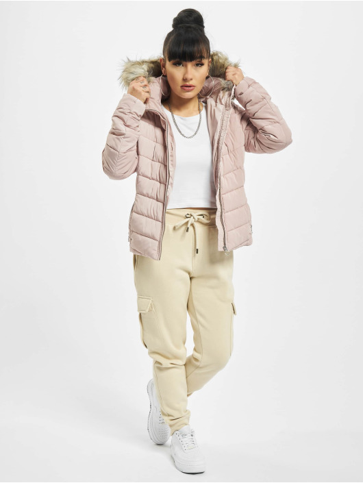 Only Puffer Jacket onlNewellan Quilted Fur grau
