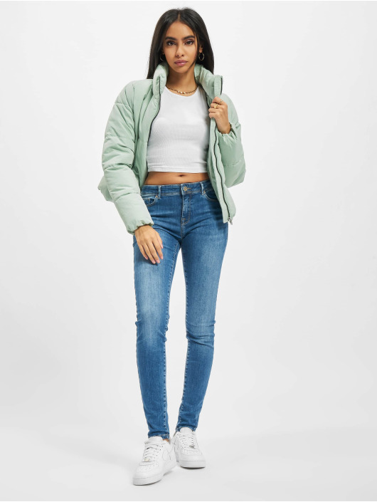 Only Puffer Jacket Onldolly Short green