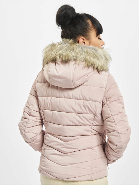 Only Puffer Jacket onlNewellan Quilted Fur grey