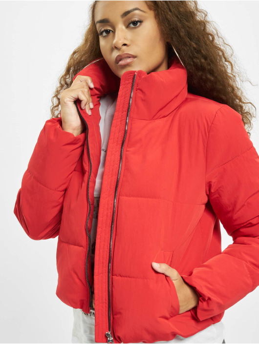 Only Puffer Jacket onlDolly Short Noos red