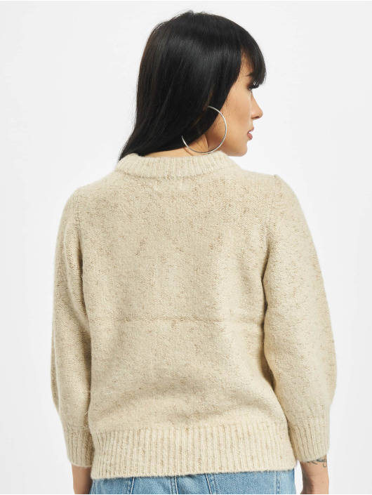 Only Pullover onlBelle 3/4 Glitter beige