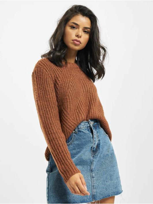 Only Pullover onlFiona Knit Noos braun