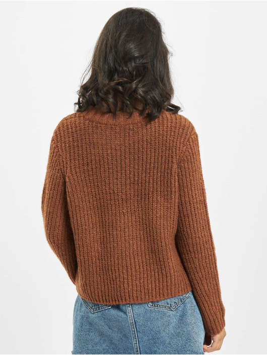 Only Pullover onlFiona Knit Noos brown
