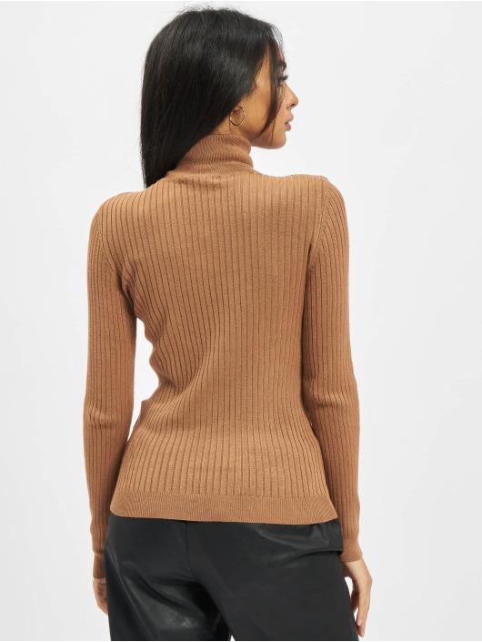 Only Pullover Onlkarol Rollneck brown