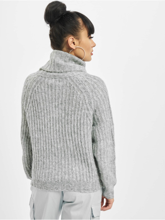 Only Pullover onlNew Chunky Rollneck grau