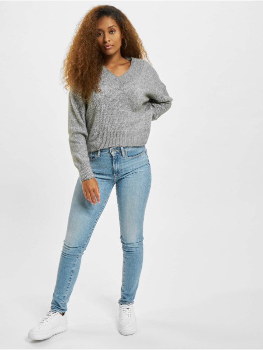 Only Pullover onlMika Knit Sweater grau